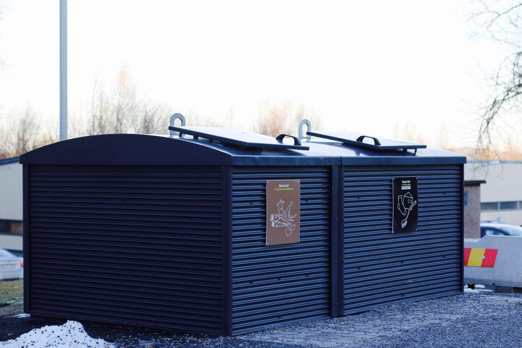 Underjordsbehållare för matavfall och brännbart restavfall